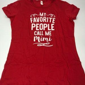 Tops - Favorite People Grandma Mimi T-Shirt Large